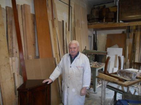 Mario Gallo artigiano del legno dal 1967 a Centocelle