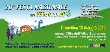 Testaccio, Festa dei Vegetariani domenica 13 maggio 2012