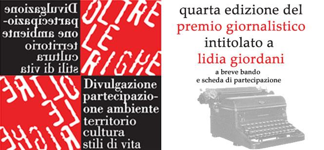 """Premio Giornalistico """"Lidia Giordani"""""""