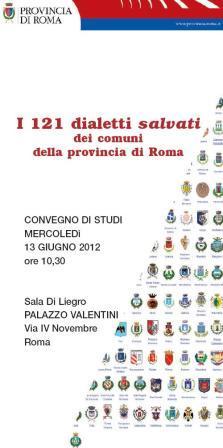 Convegno di studi: I 121 dialetti della provincia di Roma