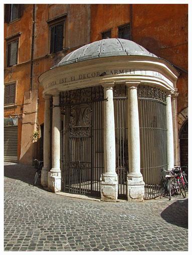 Quel tempio abbandonato nel Ghetto di Roma