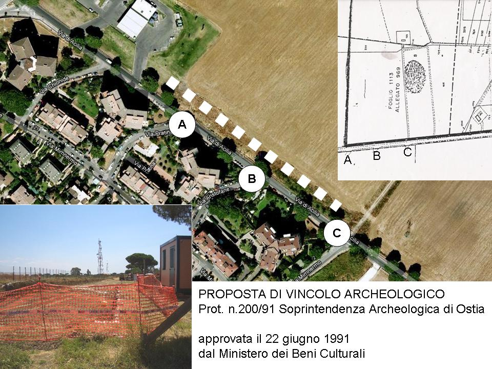 Giacimenti del Paleolitico in pericolo sulla via Acilia