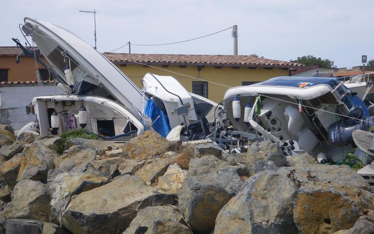 Tromba d'aria a Ostia e Fiumicino