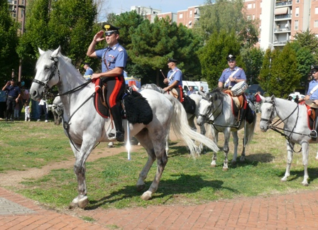 La Fanfara del 4° Reggimento Carabinieri a Cavallo a Colli Aniene