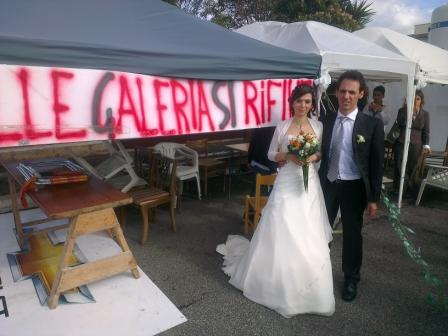 Matrimonio al Presidio di Massimina contro le discariche