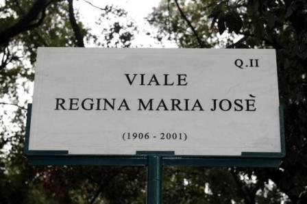 Intitolato viale a Umberto II di Savoia e Maria Josè a Villa Ada