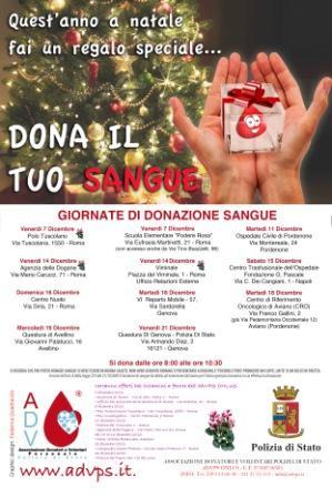 """""""Quest'anno a Natale fai un regalo speciale…dona il tuo sangue"""""""