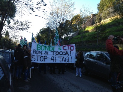 Cto, manifestazione davanti la Regione Lazio