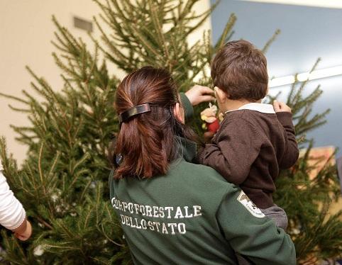 Laurentino, donato ad asilo nido Ama albero di Natale