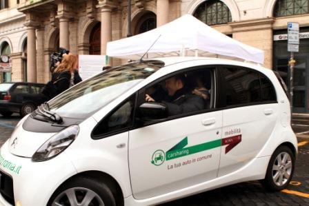 Arrivano le auto elettriche nella flotta del Car Sharing Roma