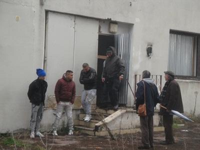 Sopralluogo del Presidente del Mastrantonio alla ex scuola Vittorini di viale G. de Chirico