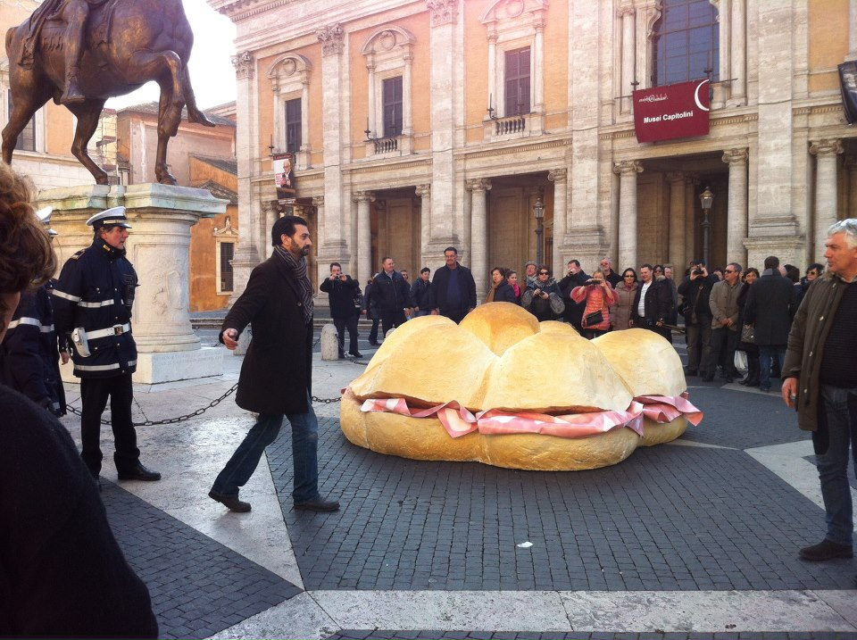 Un panino alla mortadella gigante per il Sindaco Alemanno