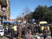 Sommossa al Portuense contro i Vigili