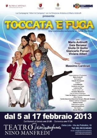 Toccata e fuga, al Teatro Nino Manfredi di Ostia