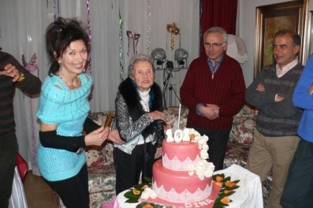 Colli Aniene festeggia la centenaria Dina Taddei Corolaita