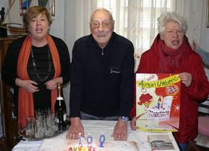 Umberto Gagni festeggia i suoi 100 anni a Colli Aniene