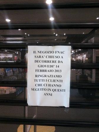 Porta di Roma: la Fnac ha chiuso, cinquanta persone hanno perso il lavoro