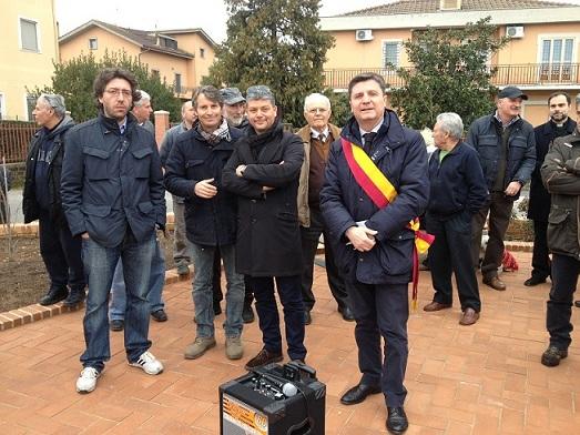 Inaugurata piazza Valgrisi a Trigoria