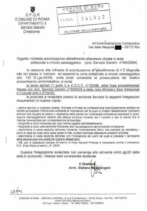 La difesa del parco Alessandrino-Tor Tre Teste entra in Municipio