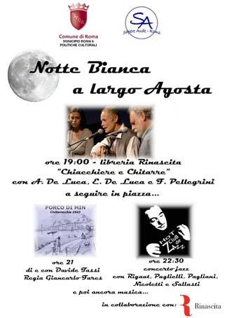 La poetica notte bianca 2008 della libreria Rinascita