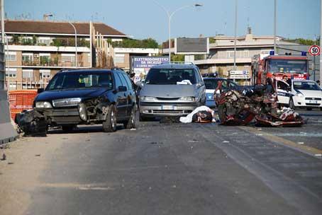 Due ragazze morte a seguito di un incidente in via dei Monti Tiburtini