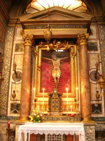 Il miracoloso crocifisso della chiesa di San Marcello al Corso