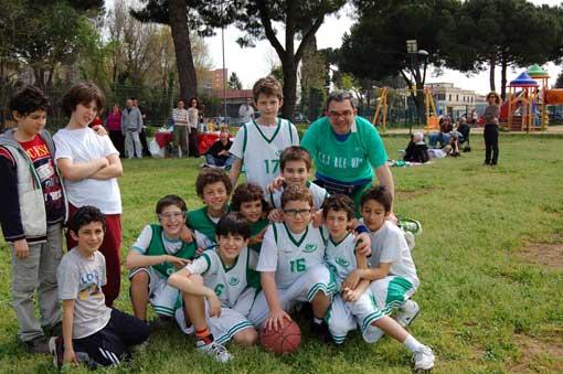 Seconda giornata del gemellaggio di minibasket a Roma