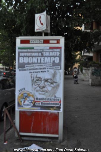 Roma, manifesti elettorali abusivi per le elezioni europee