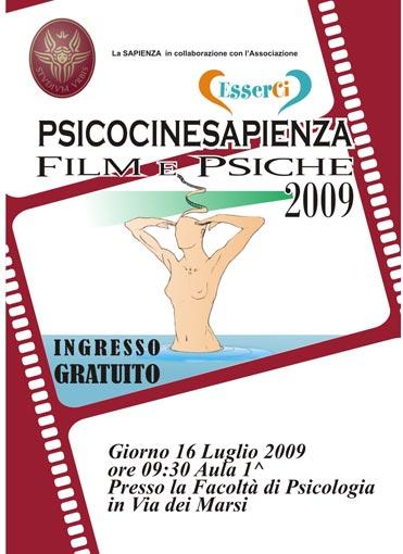 'Film e Psiche 2009' all'Università La Sapienza