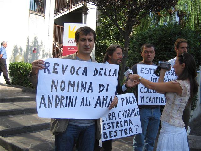 Mobilitazione contro la nomina di Stefano Andrini
