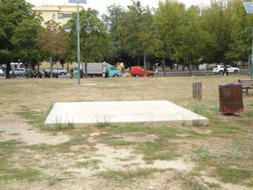 Il giardino Alberto Cianca è abbandonato
