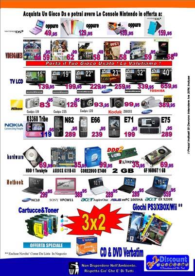 3×2 Discount Tecnologico