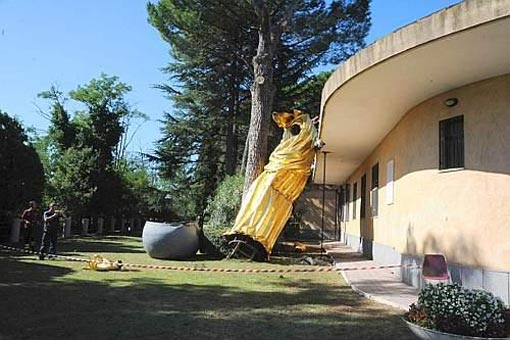 Cade la Madonna di Monte Mario