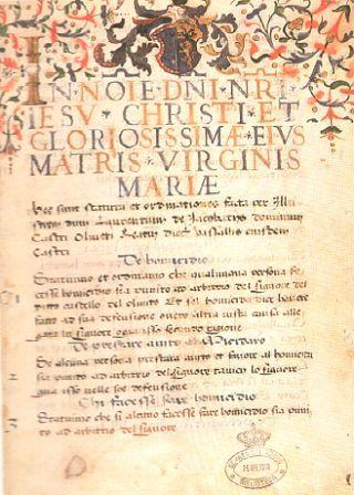 Oliveto di Torricella Sabina e il suo Statuto del sec. XVI