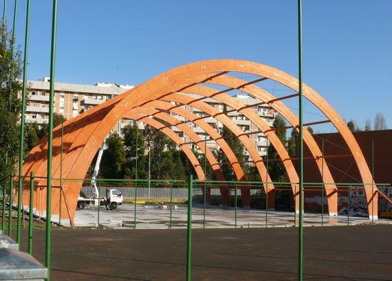 Nuovo impianto sportivo polivalente nel liceo B. Croce a Colli Aniene