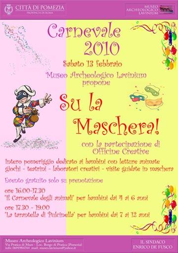 Il Carnevale al Museo Archeologico 'Lavinium' di Pomezia
