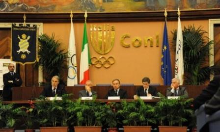 Al Foro Italico la cerimonia sportiva del Coni