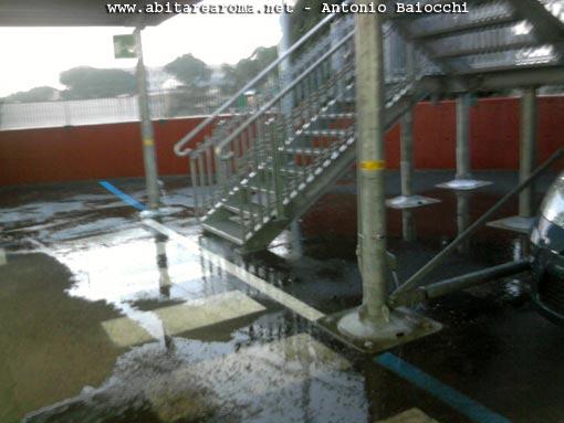 Le fontanelle del nuovo parcheggio metro di Rebibbia
