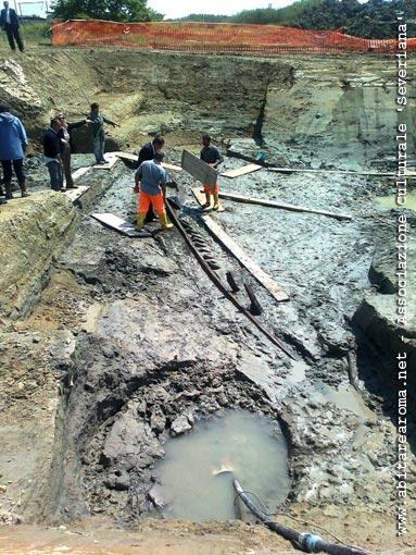 Scoperta una nave romana durante i lavori del Ponte della Scafa