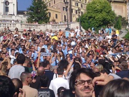 Festa Lazio a piazza di Spagna