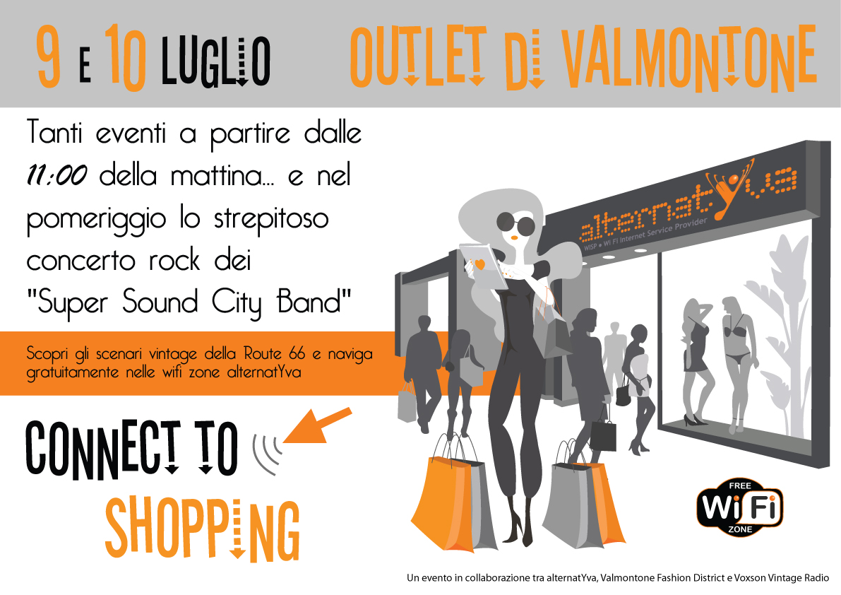 """Connect to Shopping"" al Fashion District di Valmontone"