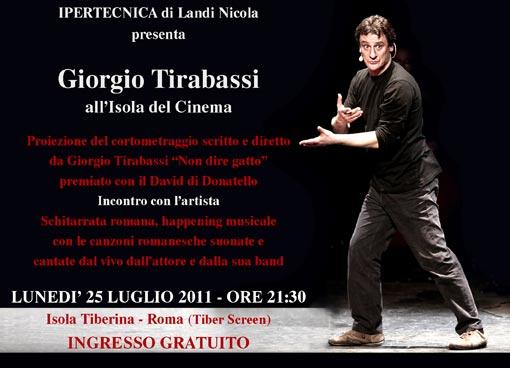 Giorgio Tirabassi a L'Isola del Cinema