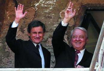 Incontro tra il patron Thomas Di Benedetto e il sindaco Alemanno