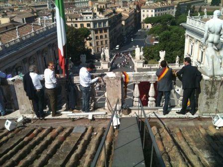 Salviamo Roma: la protesta dei Presidenti di Municipio di centrosinistra in Campidoglio