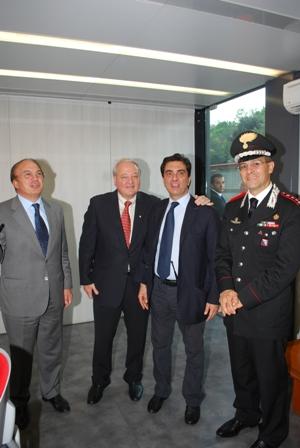 Di Benedetto visita il Gruppo Operativo Sicurezza dell'Olimpico