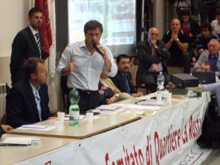 Il sindaco Alemanno a La Rustica