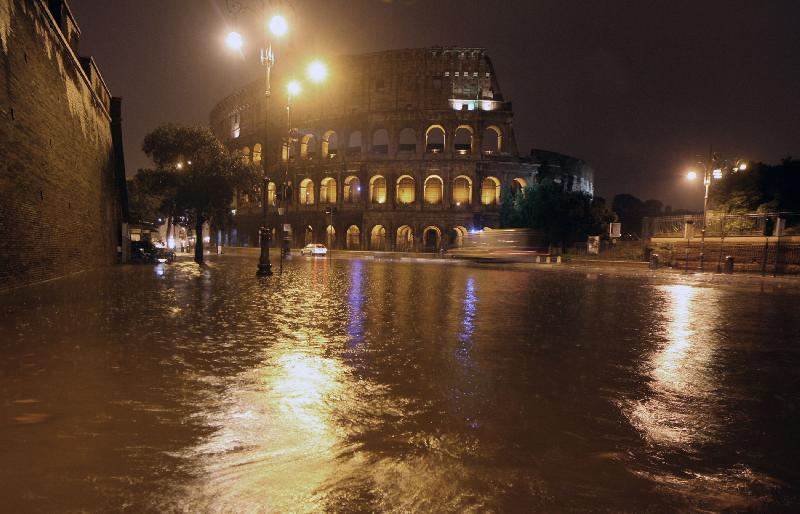 Roma allagata