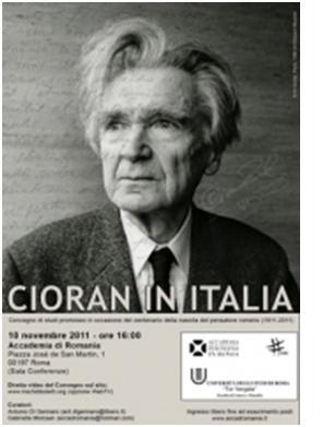 Emil Cioran all'Accademia di Romania