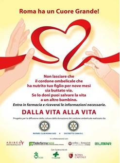'Dalla vita alla vita', campagna per la donazione del cordone ombelicale