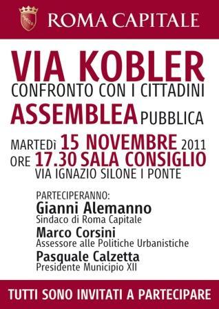 Prolungamento Via Kobler: confronto con i cittadini